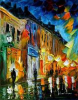 Magic Street by Leonid Afremov by Leonidafremov