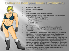 Catherina Lowblowski Ref Sheet by xZeroMan