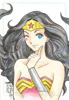 Wonder Woman - Sketch Card by GisaPizzatto
