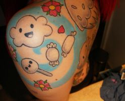 kawaii tattoo phase 2 of 3 by ladysnowbloodz