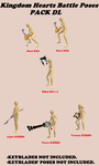 .:MMD Poses DL Series:. KH Battle Poses Pack 1 by xNutellaShooterx