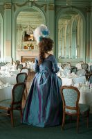 1780s Teal Gown by aimeekitty