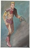 Flash Gordon Watercolor sketch... by ssava