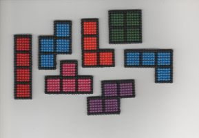 Tetris Pieces by StitchPlease