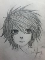 drum roll please!.. it's lil L!!(deathnote fanart) by DaMathAvatar