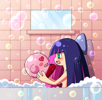Stocking And Kirby by VooDooDollMaster