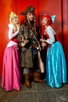 Capt. Jack and his... princesses?? by LuceCosplay