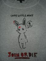 Bunny stencil - Army tshirt by Red-Revolver