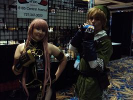 Luka Megurine and Link by spartan049820