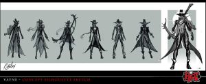 Vayne initial concept art for League of Legends by RitaLux