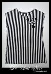 Striped Shirt With Hearts And Skulls by LeChatNoirCreations