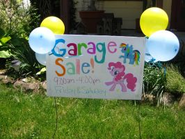 pony style garage sale sign 1 by WillowlikesVocaloid