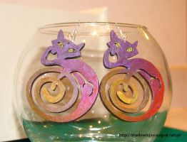 Cat earrings by Shadowisper