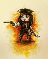 Chibi jack sparrow by sphodromantis