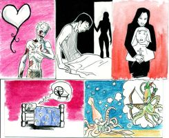 Assorted original art cards by thenumber42