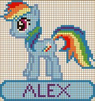 Rainbow Dash Cross Stitch Design by moonprincessluna