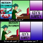 Let's Survey cards by TheButterfly
