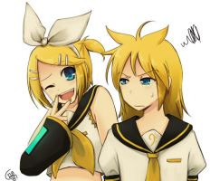 100102 Kagamine - hair tie by DejiNyucu