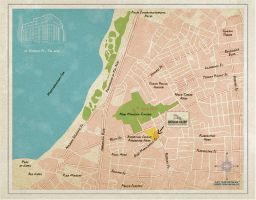 Tel Aviv Map by irmiarieli