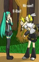 Vocaloids in the Woods by starry-night-lover