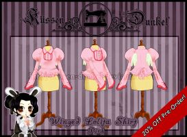 Pink Winged Lolita Shirt by Kussen-Dunkel