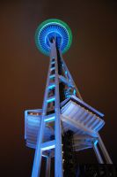 Blue Green Space Needle01 by Bspacewiz2