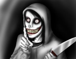 Jeff the Killer: Shhh~ by aqilesbailo