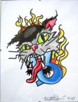 13 Cat and fire by IAteAllMyPaste