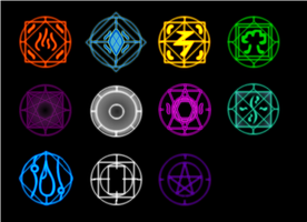 Elemental Glyphs by Zentiorus