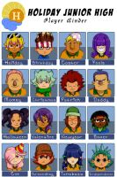 Holiday Junior High Redrawn by Card-Queen