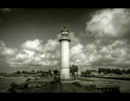 Dark Lighthouse by Beezqp