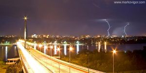 Storm over Novi Sad by markovigor