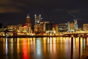night time in portland oregon by ringmale