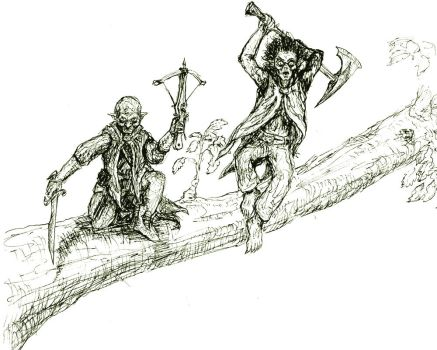 Goblins in the Trees! by Nuvenas