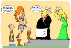 TLIID Funny pages Red Sonja in Hagar the Horrible by Nick-Perks