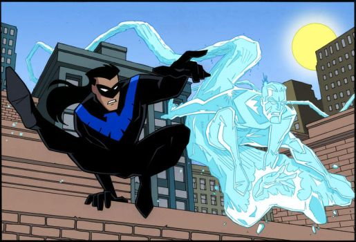 Nightwing and Iceman by xXNightblade08Xx