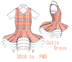 MMMD- Cutsey Dress -DL by MMDFakewings18