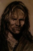 Aragorn - charcoal drawing by tofu0004