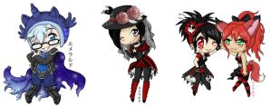 Gaia Commission Chibi set 5 by Emerarudo-chan