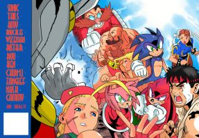 Sonic Team vs Street Fighter by ss2sonic