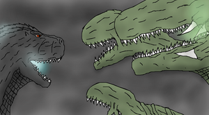 Godzilla vs Biollante, Brother against Sister by TheSpiderAdventurer