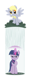 Twilight vs. Derpy: MLP by ls-event