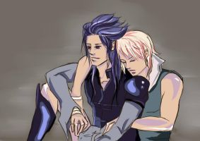 ::Special for Luni-Tari :: Kuja and Zidane by myek