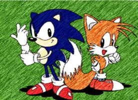 good old Classic Sonic and Tails by DrewKitsune