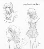 Her hair is now like this... by Ferchii