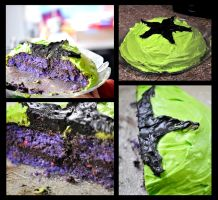 Ultraviolet Blackstar Cake by XenOhm