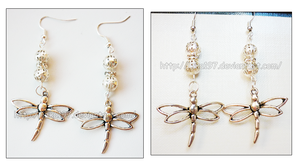 Hand Made Dragonfly Earrings SOLD by izka197