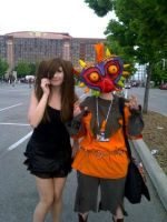 /e/ tan and Skull Kid by TheDerpQueen