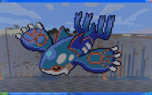 Kyogre On Minecraft by Miccopicco
