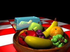 3D Fruit Bowl and Toaster by BigTippi